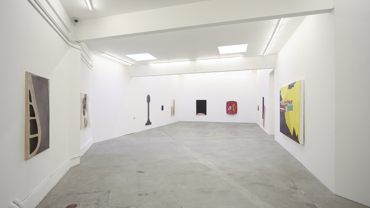 "Installation view, ""Green Circle, Black Diamond,"" Ratio 3, 2014."