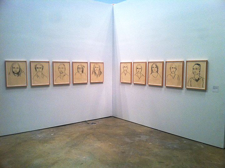 "Jadranka Kosorcic, Installation view at ""ICA@50"" group exhibition."