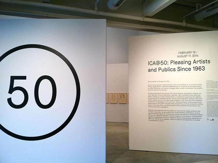 "Jadranka Kosorcic, Installation view at ""ICA@50"" group exhibition."