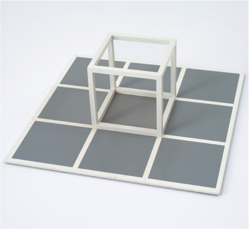 "Sol LeWitt, ""Untitled,""1975. Metal construction, 10 x 10 x 3.75 inches. Courtesy of Marian Goodman Gallery, New York / Paris."
