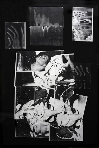 "Bruce Conner, ILL JUNE 1987, Photocopy collage, 58"" x 39 1/4"", 1987. Courtesy of Gallery Paule Anglim."