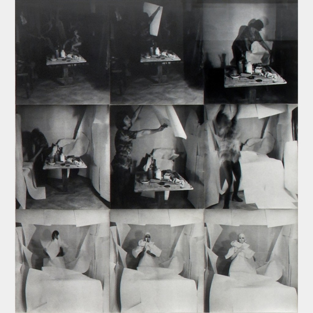 """Towards White,"" 9 b/w photographs, mounted on paper, 1976-2011. Courtesy the artist and Galerie Barbara Weiss, Berlin."