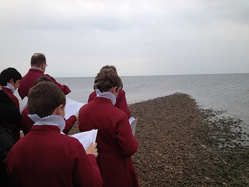 "Louisa Fairclough, ""Compositions for a Low Tide,"" 2014. Performed by Rochester Cathedral choristers."