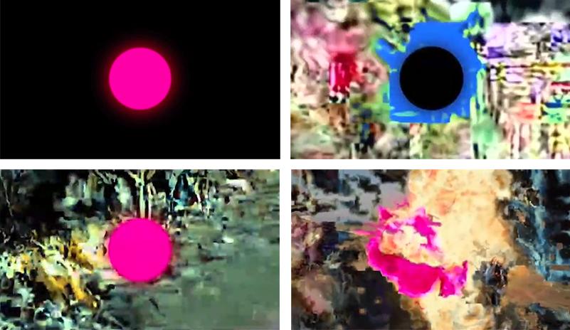 """Untitled (Pink Dot),"" 2007. 5:00. Courtesy Takeshi Murata and Ratio 3, San Francisco."