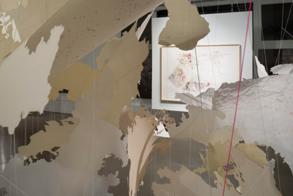 """Val Britton, """"Passage,"""" 2014, installation view. Courtesy the artist and Gallery Wendi Norris."""