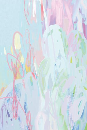 """Michael Manning, """"Chinese Broccolini Torta"""", digital print with acrylic on canvas, 183 x 122 cm (72 x 48 in.), 2014. Courtesy of Phillips."""