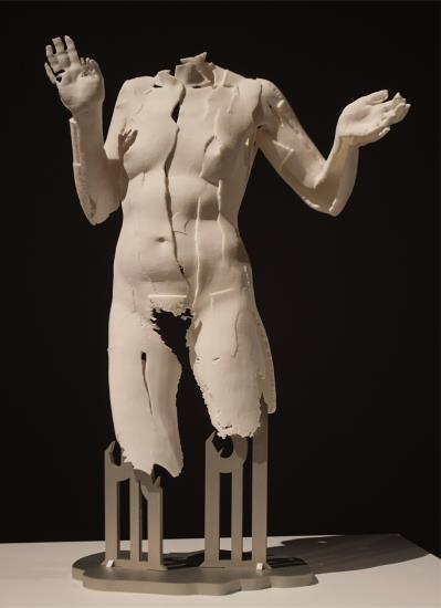 "Sophie Kahn, ""Période des attitudes passionelles"", three dimensional print from laser scan on aluminium base, 46 x 31 x 17 cm. (18 1/8 x 12 1/4 x 6 3/4 in.), 2014. Courtesy of Phillips."