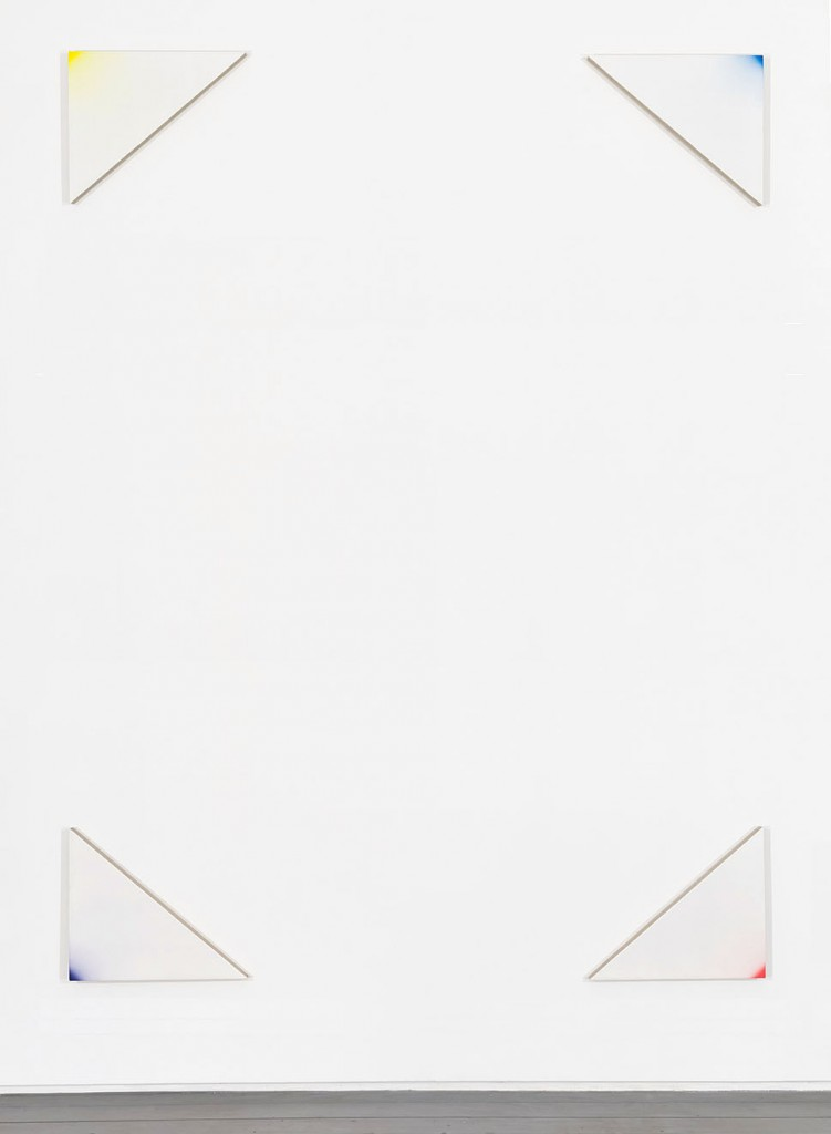 """Adam Henry, """"Untitled (tvptgd),"""" synthetic polymers on linen, 67 x 51 in., 2013. Courtesy of The Hole."""