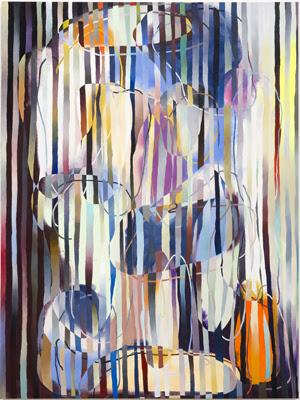 "Daniel Ingroff, ""Parrot,"" acrylic on canvas, 54 x 40.5 in., 2014. Courtesy of Richard Telles Fine Art."