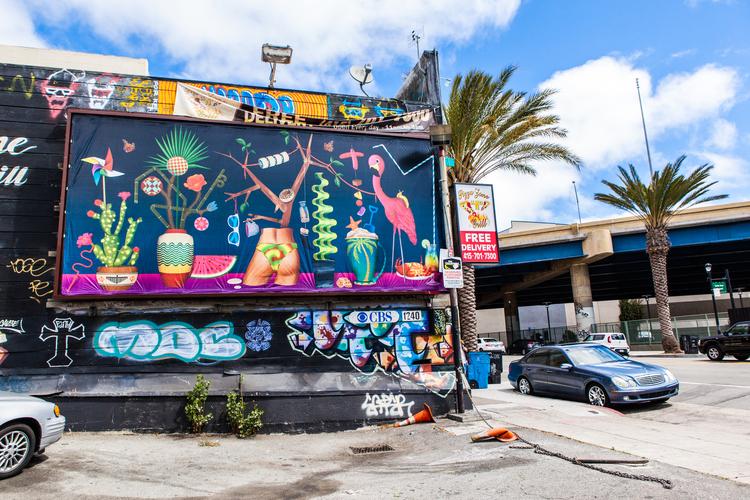 "Casey Gray, ""California Love,"" billboard across from Zeitgeist on Duboce and Valencia, San Francisco, 2014."