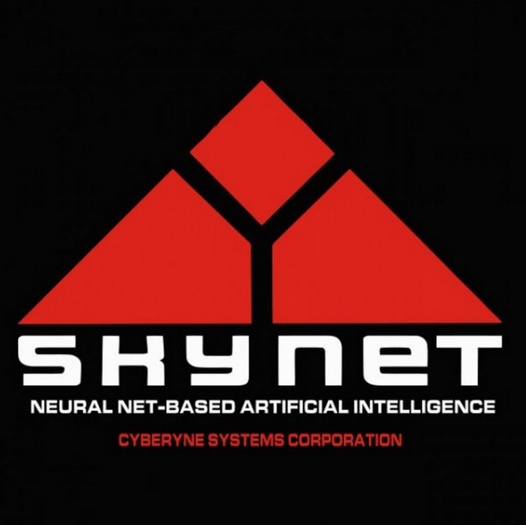 "Skynet, self-aware artificial intelligence system featured in the Terminator series. ""Skynet's operations are almost exclusively performed by war-machines, cyborgs (usually a Terminator), and other computer systems, with the goal of exterminating the human race."" Courtesy of Wikipedia."