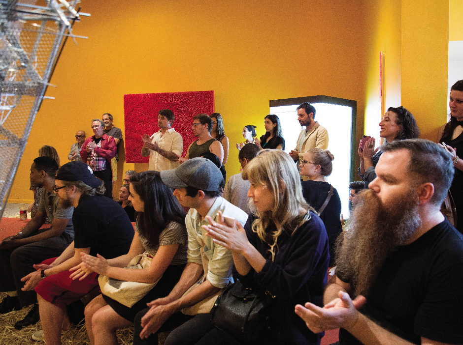 Poetry Reading at exhibit Bllodflames Revisited at Paul Kasmin Gallery, July 17th, 2014.
