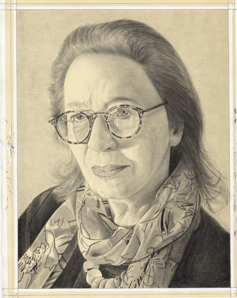 "Phong Bui, ""Portrait of Elizabeth C. Baker,"" 2014. Pencil on paper, 11x15 inches. Courtesy of the artist."