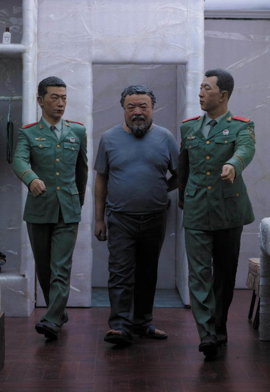 "Ai Weiwei, ""Ritual (detail),"" 2011-2013. From the work S.A.C.R.E.D., 2011-13. One of six dioramas in fiber- glass and iron, 148 3/8 x 78 x 60 1/5 in. Courtesy of Ai Weiwei Studio. © Ai Weiwei."