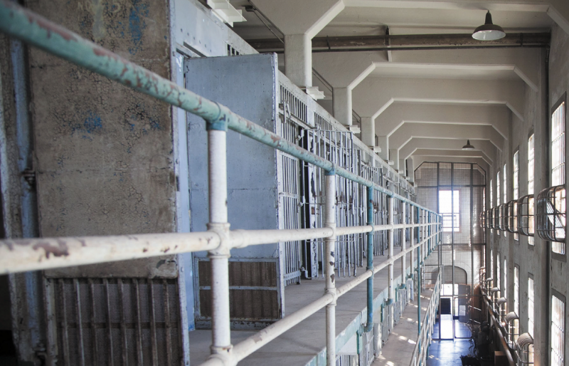 Second and third floors of A Block in the cell house at Alcatraz, site of the exhibition @Large: Ai Weiwei on Alcatraz. Photograph by Jan Sturmann. Courtesy of FOR-SITE Foundation.