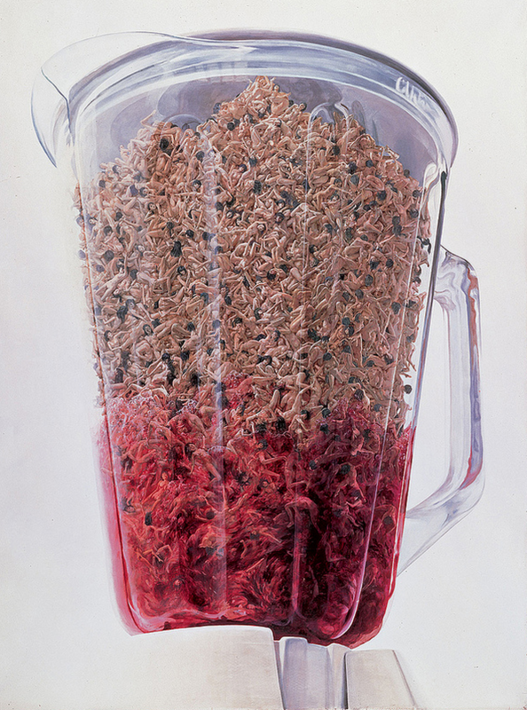 "Makoto Aida, ""Blender,"" 2001. Acrylic on canvas, 290 x 210.5 cm. TAKAHASHI collection, Tokyo. Courtesy of the artist."