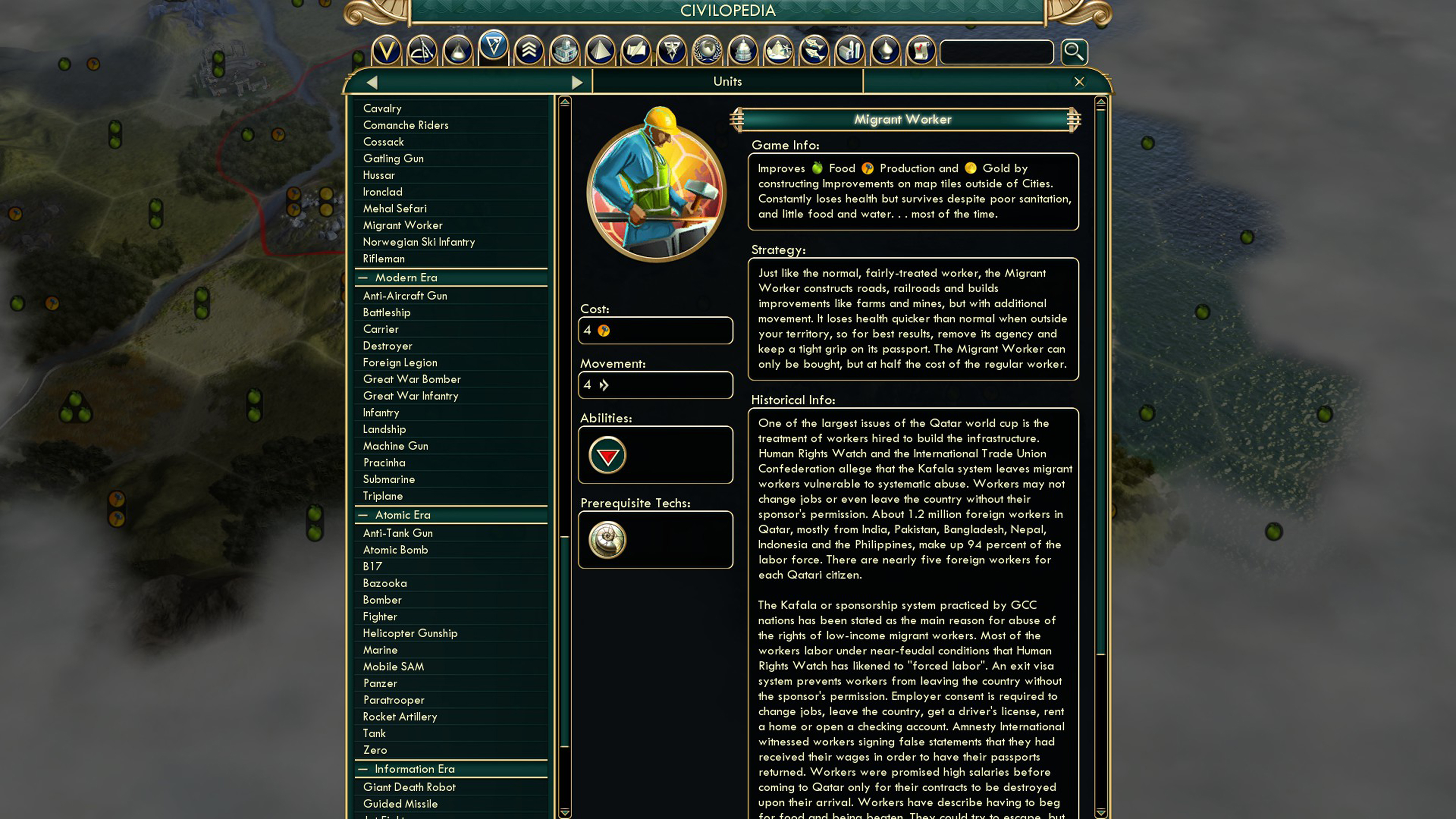 """Civilization V, developed by Firaxis Games, 2010. """"FIFA World Cup Host"""" mod created by Steph. Courtesy of the Internet."""