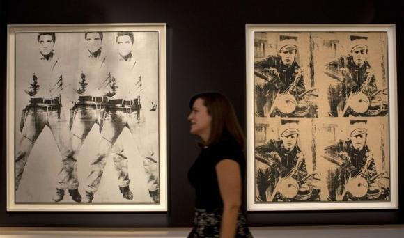 In October, 2014, Christie's sold $853 million of postwar and contemporary art, headed by two Andy Warhol works. Courtesy of Reuters. Photo by Brendan McDermid.