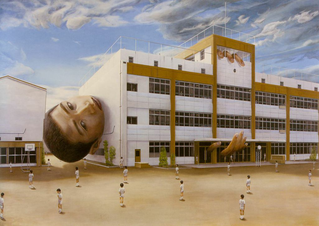 Prisoner, approx. 1999, by Tetsuya Ishida (Japanese, 1973–2005). Acrylic on board. Courtesy of private collection. © Estate of Tetsuya Ishida. Image courtesy of the Asian Art Museum.