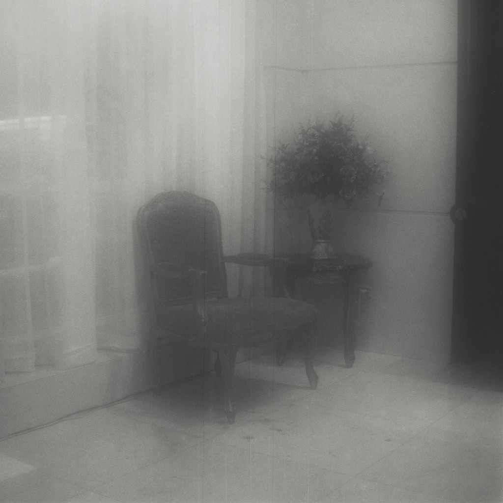 "Yoneda Tomoko, from the series ""The Parallel Lives of Others—Encountering with Sorge Spy Ring."" Modern Hotel, Harbin (Clausen & Benedict), 2008. Gelatin silver print, 9.5 x 9.5 cm. Courtesy the artist and ShugoArts"