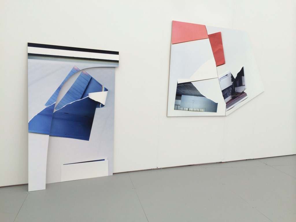 Kate Bonner at Luis De Jesus (Los Angeles). From left to right Out of another one, 2014; An effect like fast forwarding, 2014.