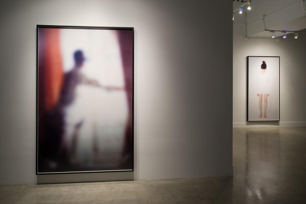"(left) Eva Schlegel, ""Untitled (031),"" 2013. Lambda print 63 x 47 inches (160 x 120 cm). Edition 2/3 + 1AP. (right) ""Untitled (153a),"" 2014. Lambda print 81 x 41 inches (205 x 105). Edition 3/3 + 1AP."
