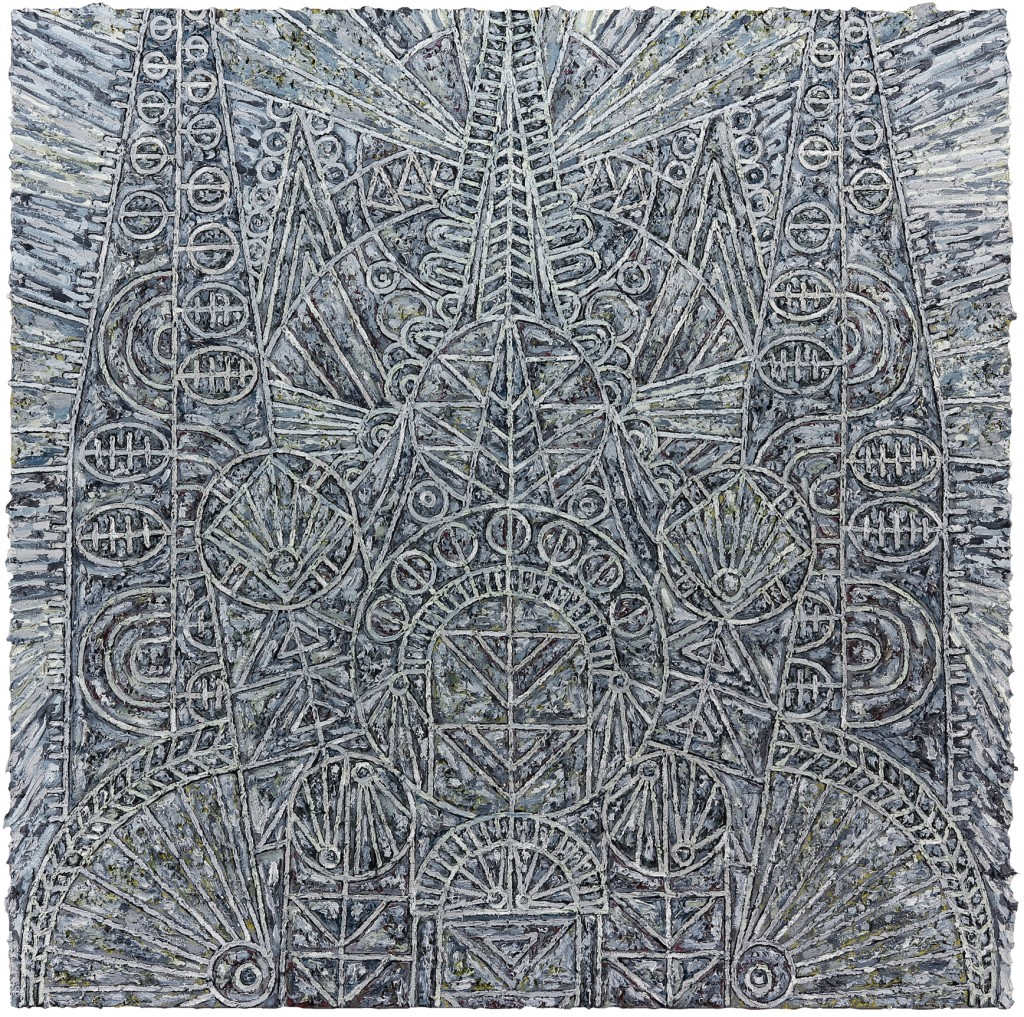 "Helen Rebekah Garber, ""Katholikon for P.,"" 2014. Oil on linen. 60 x 60 inches. Courtesy of Helen Rebakah Garber and Gallery Wendi Norris."