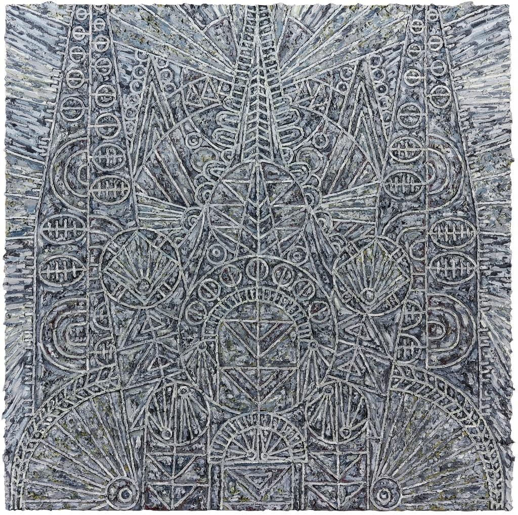 """Helen Rebekah Garber, """"Katholikon for P.,"""" 2014. Oil on linen. 60 x 60 inches. Courtesy of Helen Rebakah Garber and Gallery Wendi Norris."""