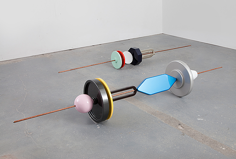 """Installation view, """"MULTIPOLARITY,"""" Reuven Israel at Fridman Gallery, New York, 2014. Courtesy of Fridman Gallery."""