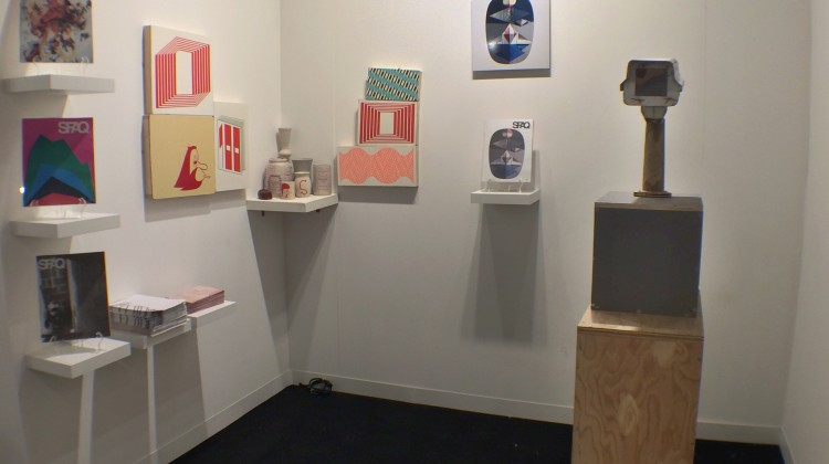 SFAQ[Projects] at Art Basel, Miami, 2014. Featuring works from Tom Sachs, Barry McGee, and Alexandre Arrechea