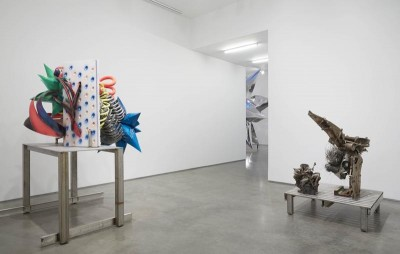 "Installation view, ""Frank Stella Sculpture, Frank Stella at Marianne Boesky Gallery, New York, 2014. Courtesy of Marianne Boesky Gallery."