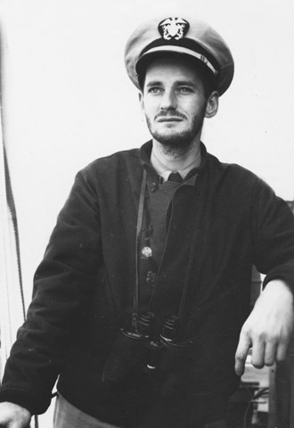 Ferlinghetti, Captain of Sub-Chaser 1308 during World War 2. Invasion of Normandy, 1945.