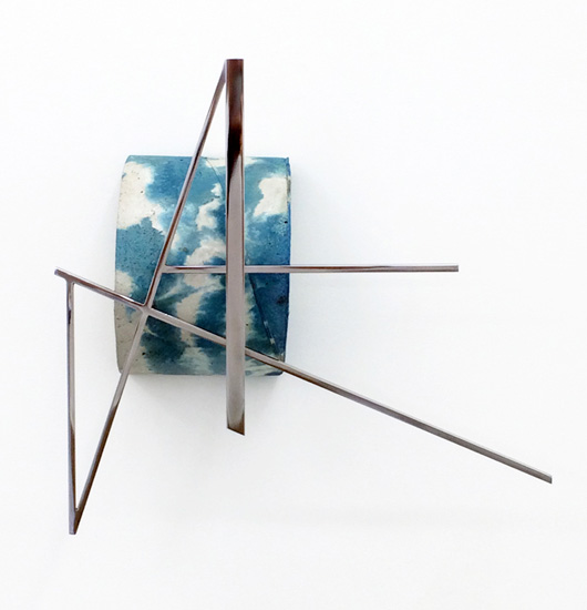 Jonathan Runcio, VAF, 2014. Concrete, stainless steel and pigment, 17 x 17 x 6 inches. Courtesy of Romer Young Gallery.