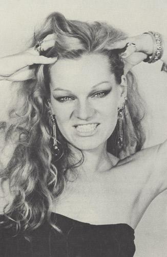 Cookie Mueller, 1981. Photo by Ileane Metzner.