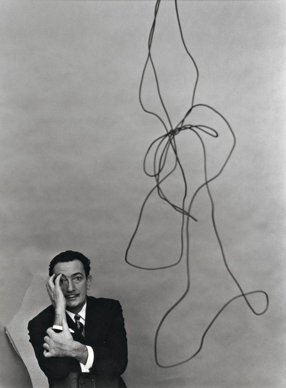 Arnold Newman, portrait of Salvador Dalí. Courtesy of the Internet.