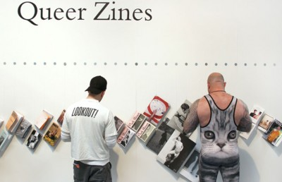 Queer Zines Exhibition at the LA Art Book Fair, 2014. Courtesy of Julie Grace Immink and the LA Art Book Fair.