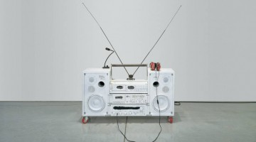 Tom Sachs, Model One, 1999. Mixed media, 32 x 41 x 14 inches. Collection of Shelley Fox Aarons and Philip Aarons, New York. Courtesy of Tom Sachs Studio and the Contemporary Austin.