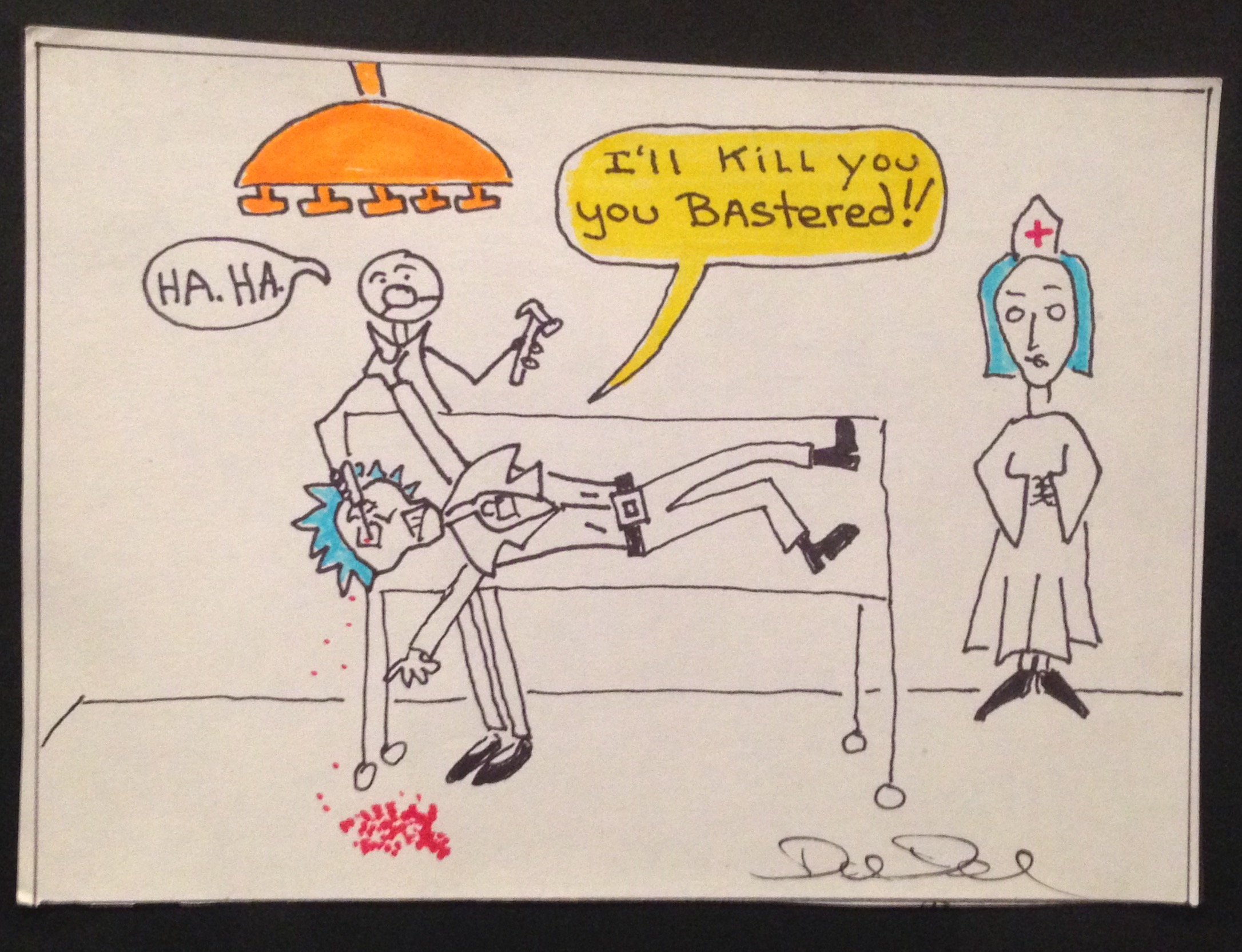 Excerpt from Sid Vicious/Hotel Chelsea storyboard, circa 1977. Photo by SFAQ. Courtesy of