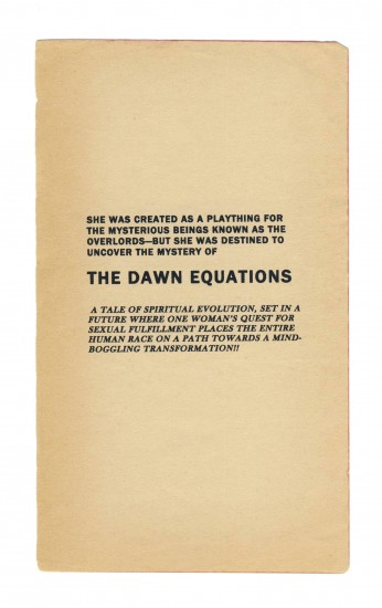 Anthony Discenza, The Dawn Equations, 2014. Inkjet on found paper, 7 x 4 1/4 inches, unframed. Courtesy of Catharine Clark Gallery.