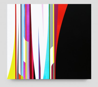 Dion Johnson, Exchange, 2014. Acrylic on canvas, 32 x 36 inches. Courtesy of De Buck Gallery.