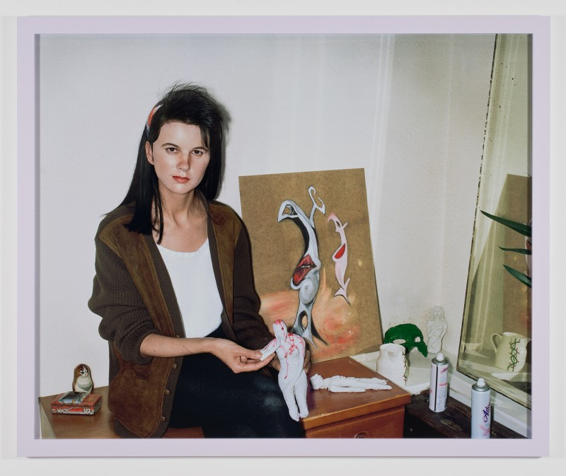 "Gillian Wearing, ""Me as an Artist in 1984,"" 2014. Framed c-type print 52 1/4 x 63 1/4 x 1 1/2 inches. Courtesy Regen Projects"