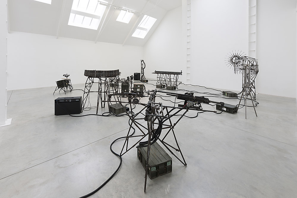Disarm, 2013. Instruments made from de-commissioned weapons, Lisson Gallery, London, 2013. Courtesy of the artist and Lisson Gallery, London.