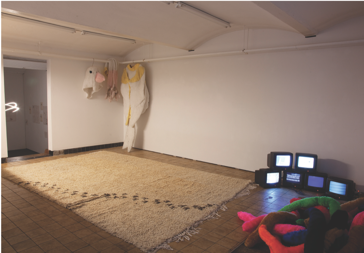 Petrit Halilaj, I Don't Have a Room, I Don't Have a Mind, Nevermind!, 2014. Mixed media. Installation view at Chert, Berlin. Courtesy of Zona Maco.