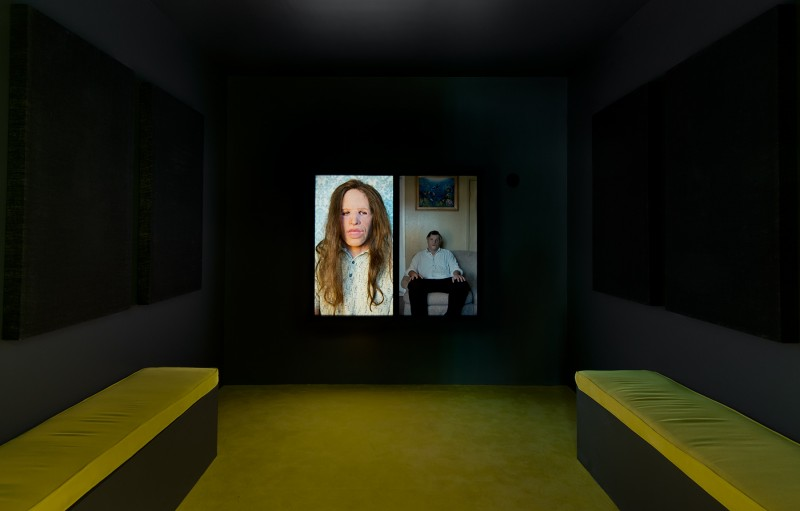 "Gillian Wearing, ""Fear and Loathing,"" 2014, installation view. Courtesy Regen Projects"