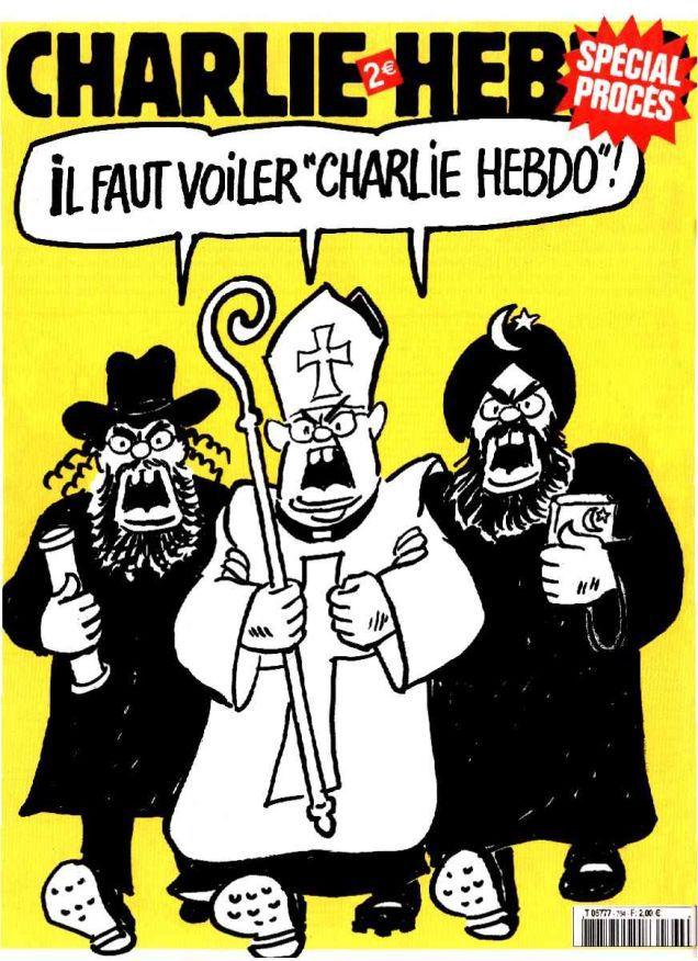 "Charlie Hebdo Must be Veiled"" Photo courtesy Charlie Hebdo."