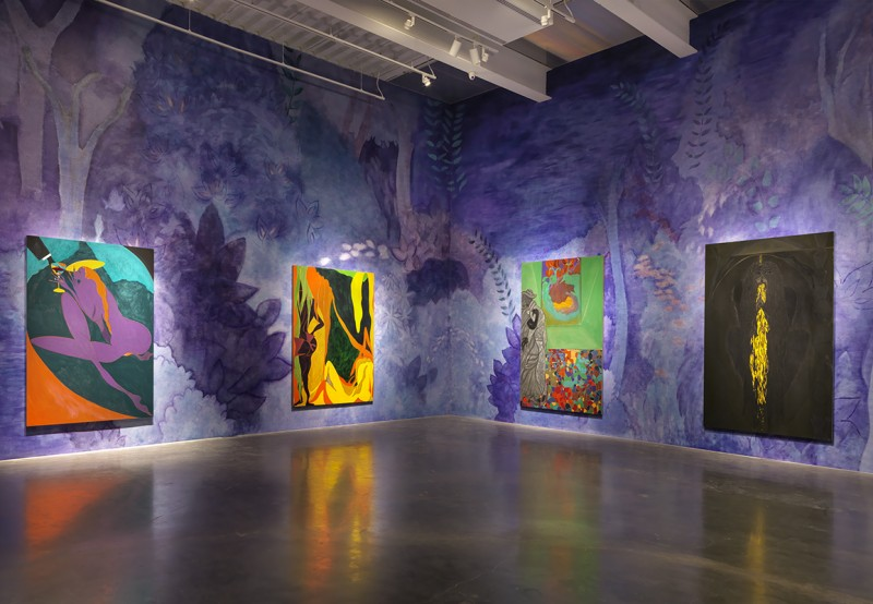 Chris Ofili, Installation Images at the Fourth Floor, The New Museum. Photo Courtesy of The New Museum