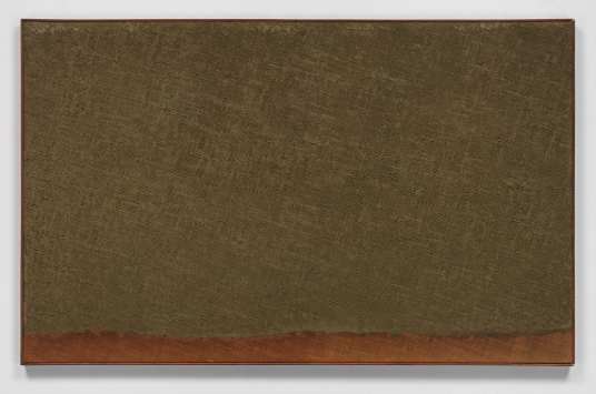 Ha Chonghyun, Conjunction 79-101, 1979. Oil on canvas, 32.12 x 51.18 inches. Courtesy of Blum & Poe.