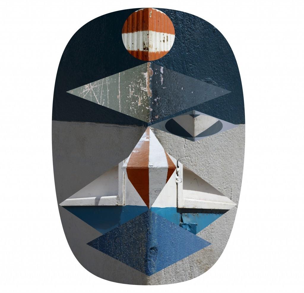 """Mask vedado,"" 2014. Color print. 39"" x 37"". Courtesy of the artist."