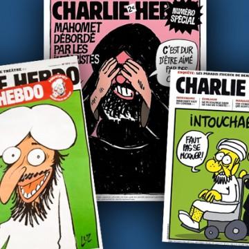 Charlie Hebdo, illustration via Slate.