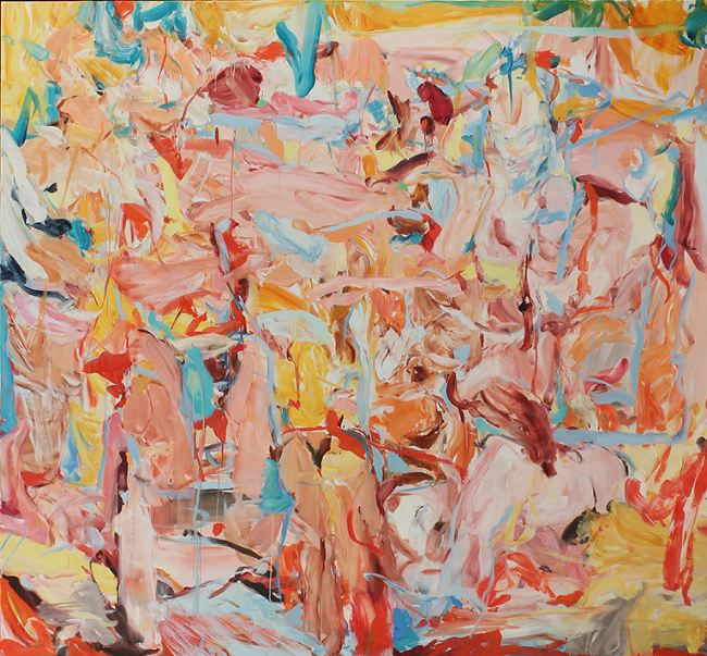 The Summer Went, 2014. Oil on canvas, 77 x 83 in. Courtesy of the artist and Dolby Chadwick Gallery.